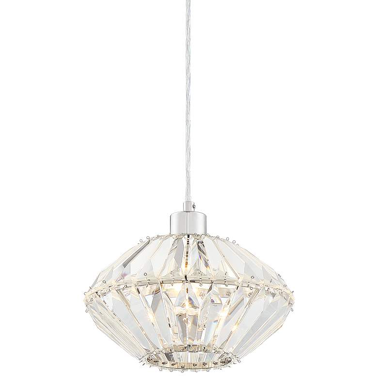 """Paige 9 3/4"""" Wide Chrome and Clear Glass Mini Pendant"""