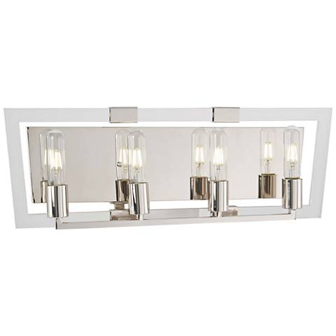 "Crystal Chrome 24 3/4""W Polished Nickel 4-Light Bath Light"