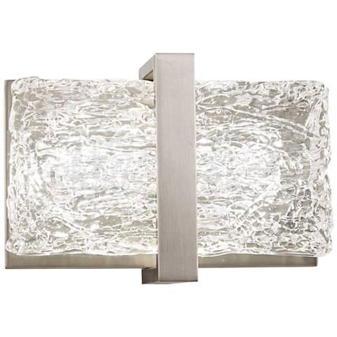 "George Kovacs Forest Ice II 5"" High Chrome LED Wall Sconce"
