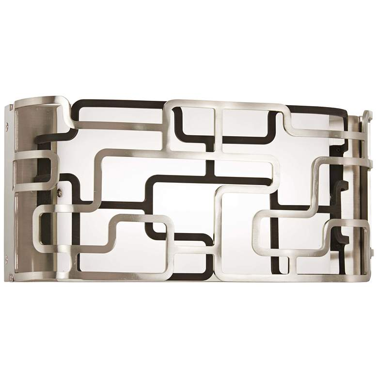 """Alecia's Tiers 12"""" Wide Brushed Nickel LED Bath Light"""