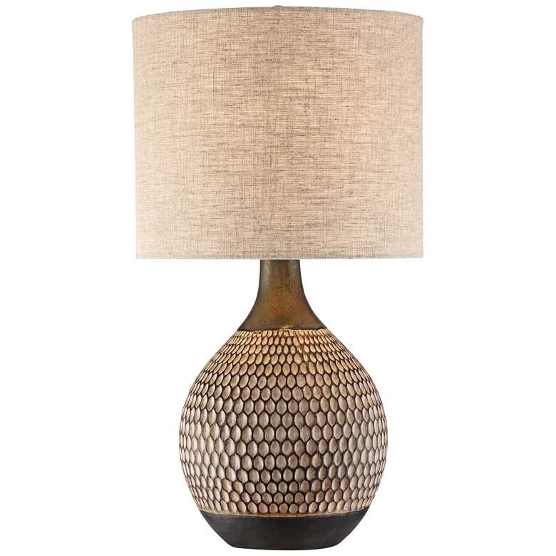Emma Brown Ceramic Mid-Century Table Lamp