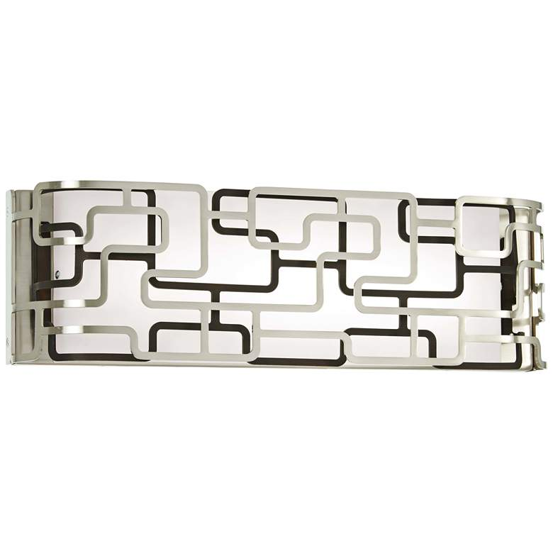 """Alecia's Tiers 16"""" Wide Brushed Nickel LED Bath Light"""