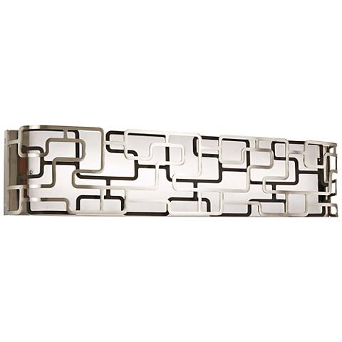 """Alecia's Tiers 25"""" Wide Brushed Nickel LED Bath Light"""