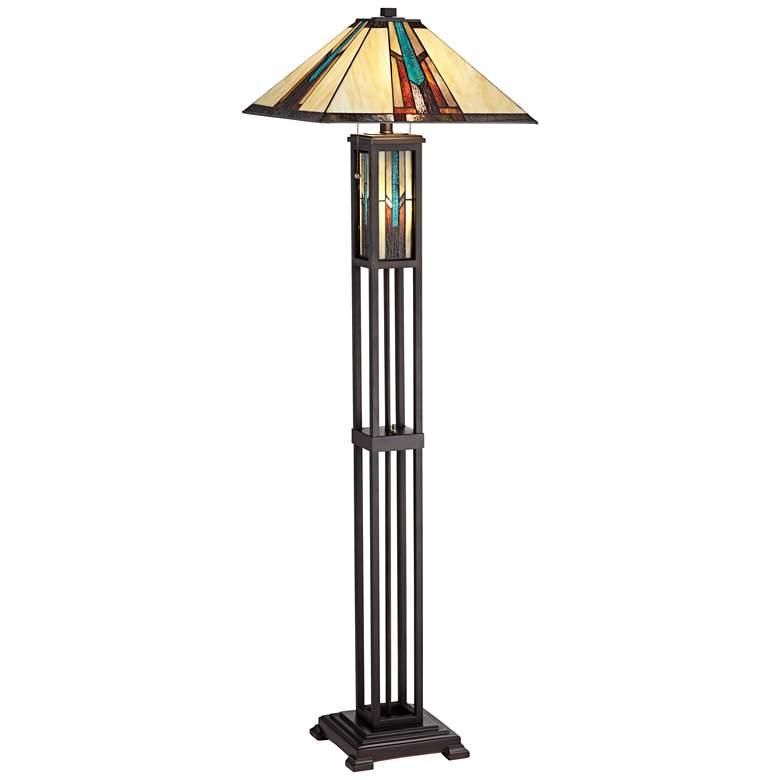 Robert Louis Tiffany Ranier Mission Night Light Floor Lamp