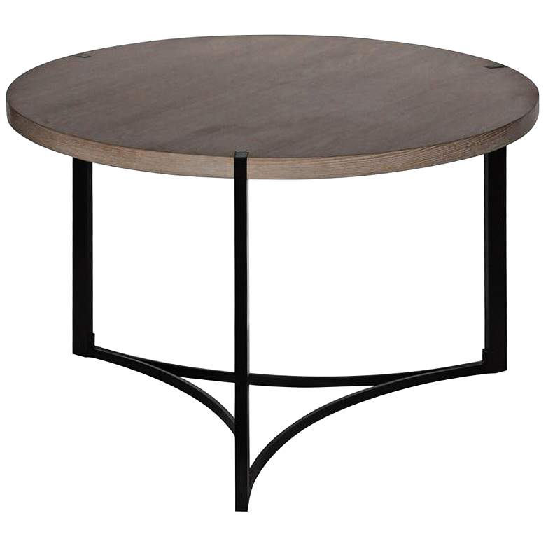 """Stratus 38"""" Wide Natural Wood Modern Cocktail Table"""