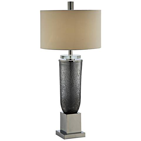 Crestview Collection Kensington Gray Glass Table Lamp