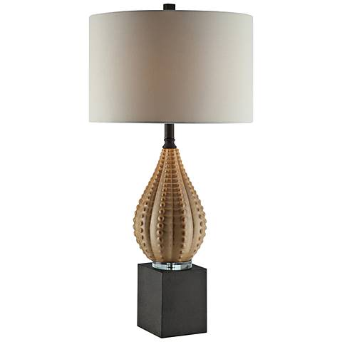 Crestview Collection Oracle Khaki Ceramic Table Lamp