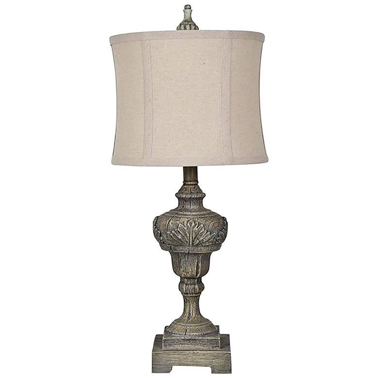 Crestview Collection Vanderbilt Gray Stone Table Lamp