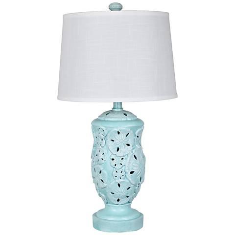 Coastal Sand Dollar Coastal Water Table Lamp