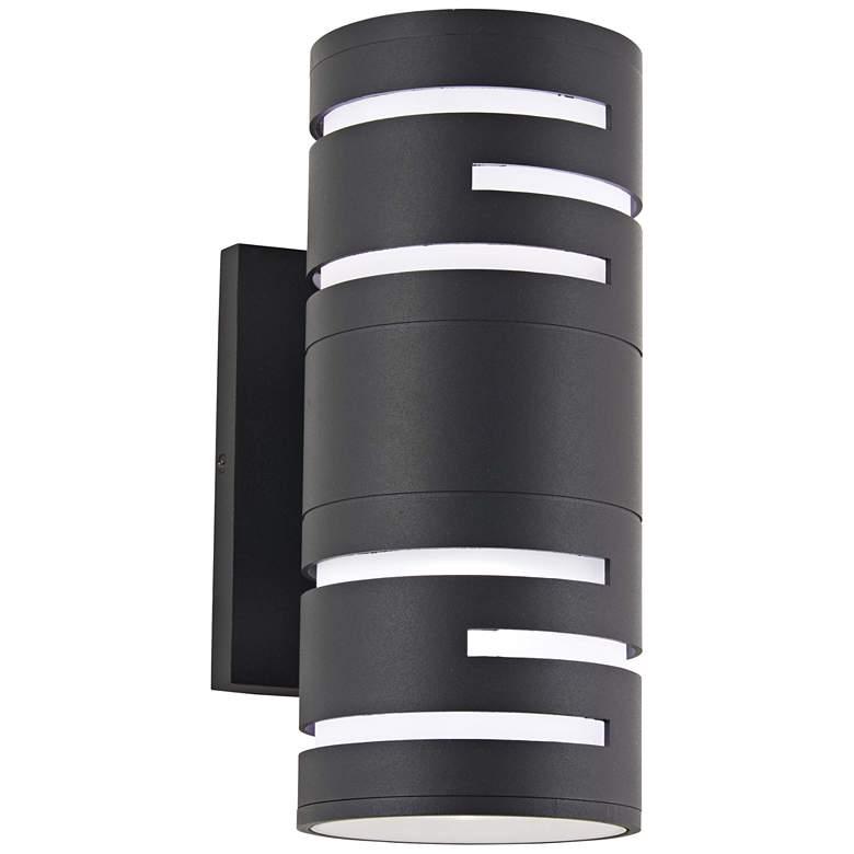 "George Kovacs Groovin 12"" High Black LED Outdoor Wall Light"