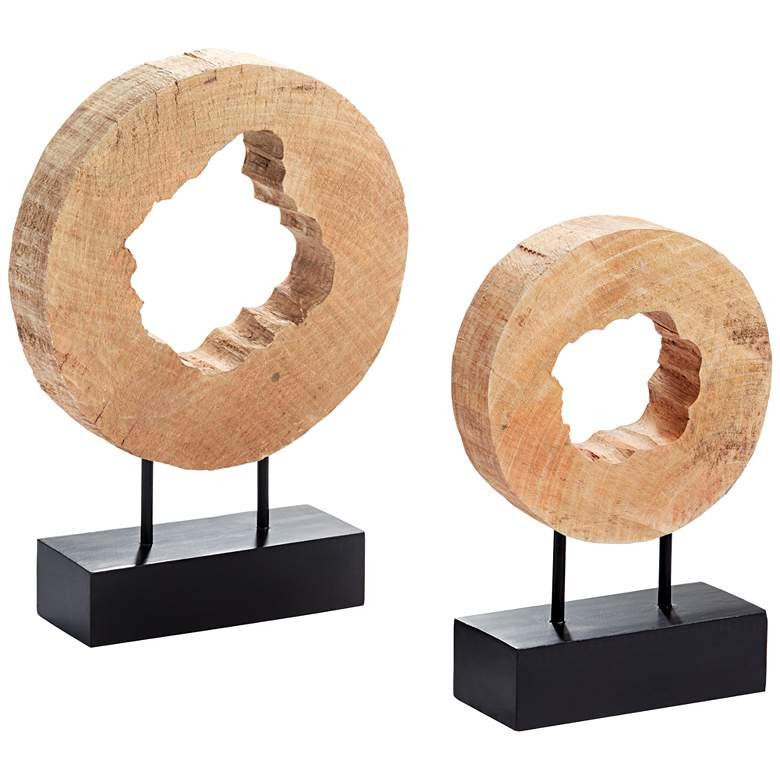 Uttermost Carved Wooden Log Sculpture Set of 2