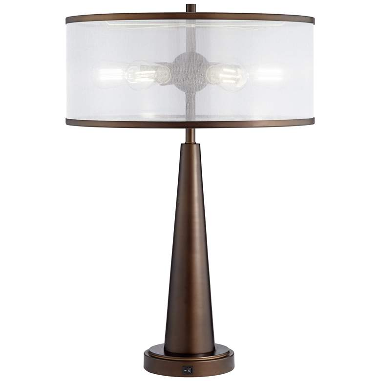 Apollo Industrial Modern Table Lamp with USB Port