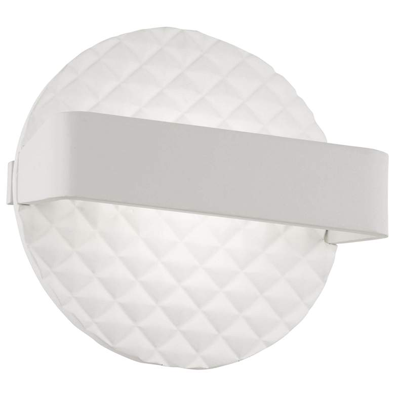 "George Kovacs Quilted 6 3/4""H Matte White LED"