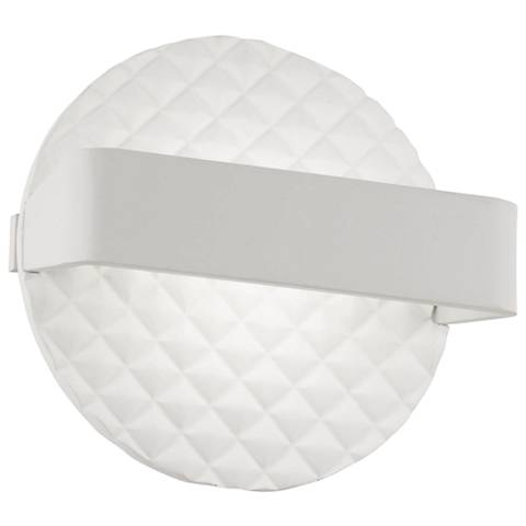"""George Kovacs Quilted 6 3/4""""H Matte White LED Wall Sconce"""