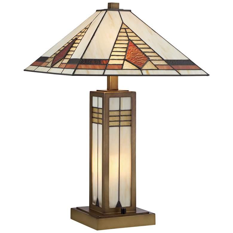 Stewart Tiffany Style Mechintosh Night Light Table Lamp