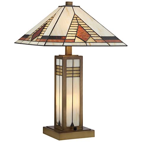 Stewart Tiffany Style Mechintosh Night Light Table Lamp