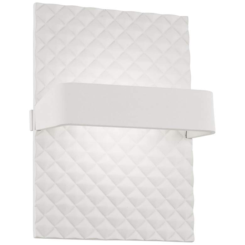 """George Kovacs Quilted 7"""" High Matte White LED"""