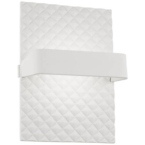 """George Kovacs Quilted 7"""" High Matte White LED Wall Sconce"""