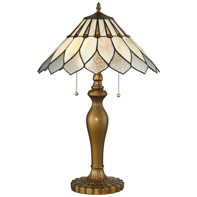 Lite Source Lavena Brass Tiffany Art Nouveau Table