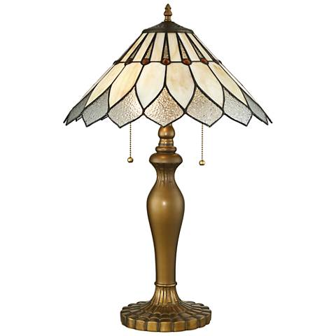 Lite Source Lavena Brass Tiffany Art Nouveau Table Lamp