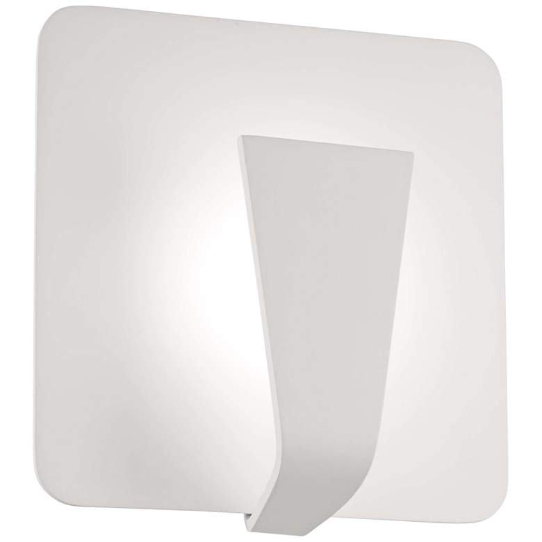 "George Kovacs Waypoint 8 3/4""H Sand White LED Wall Sconce"