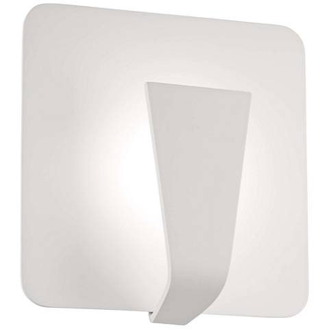 """George Kovacs Waypoint 8 3/4""""H Sand White LED Wall Sconce"""