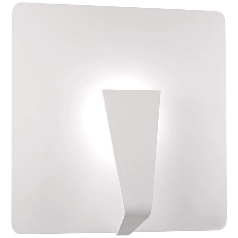 """George Kovacs Waypoint 18"""" High Sand White LED Wall Sconce"""