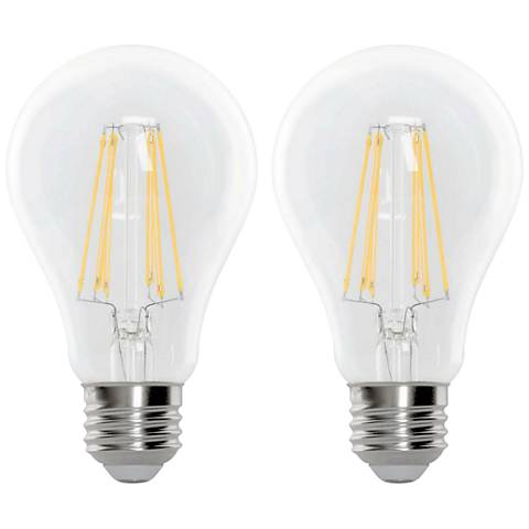 100W Equivalent Clear 15W LED Dimmable Filament Bulb 2-Pack
