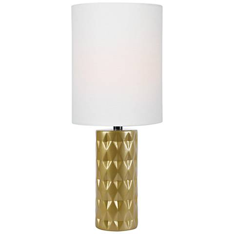 "Lite Source Delta 17"" High Gold Ceramic Accent Table Lamp"