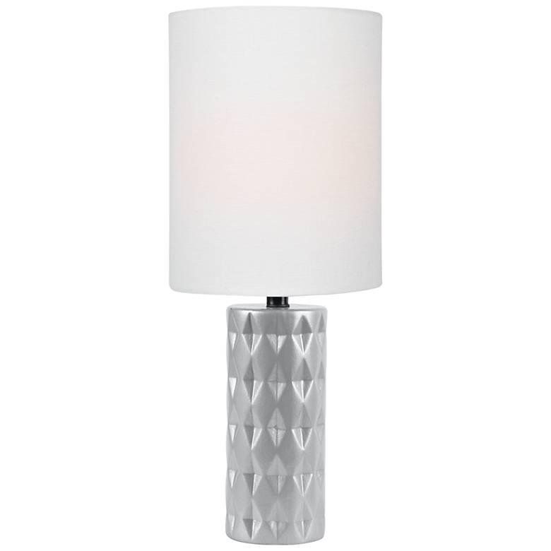 "Lite Source Delta 17"" High Silver Ceramic Accent Table Lamp"