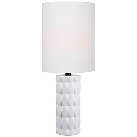 "Lite Source Delta 17"" High White Ceramic Accent Table Lamp"