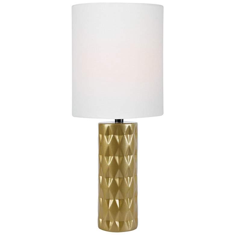 Lite Source Delta Gold Ceramic Table Lamp