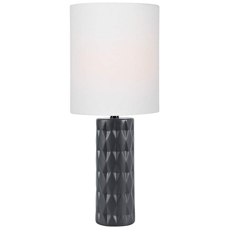 Lite Source Delta Jet Black Ceramic Table Lamp