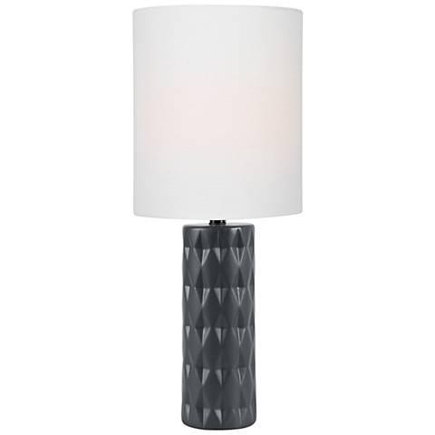 Lite Source Delta Jet Black Ceramic Table Lamp