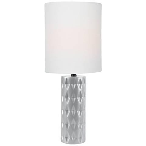 Lite Source Delta Silver Ceramic Table Lamp