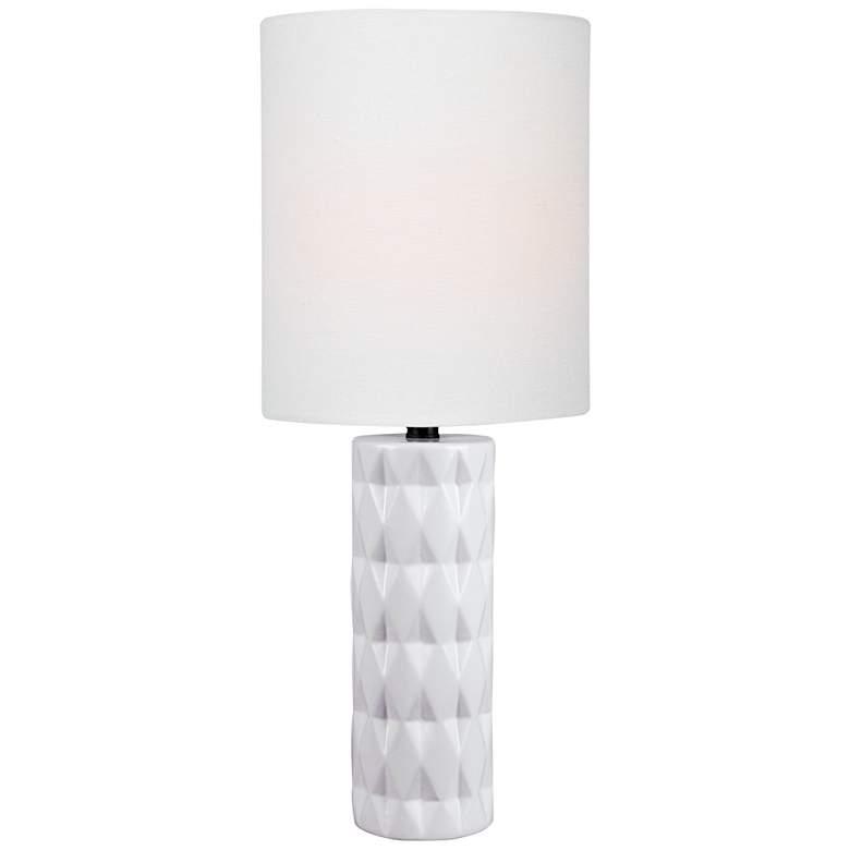 Lite Source Delta White Ceramic Table Lamp