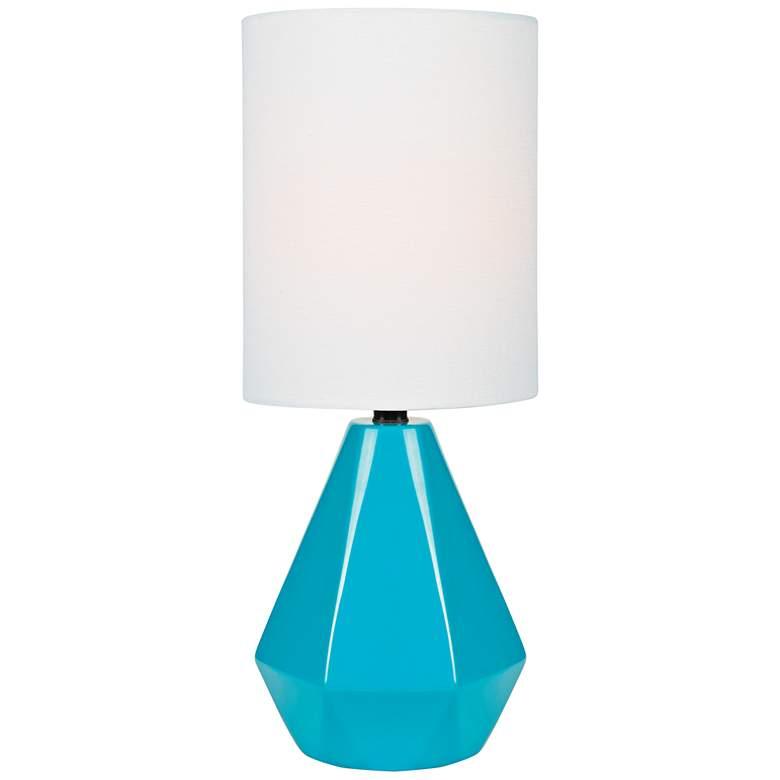 "Lite Source Mason 17"" High Blue Ceramic Accent Table Lamp"