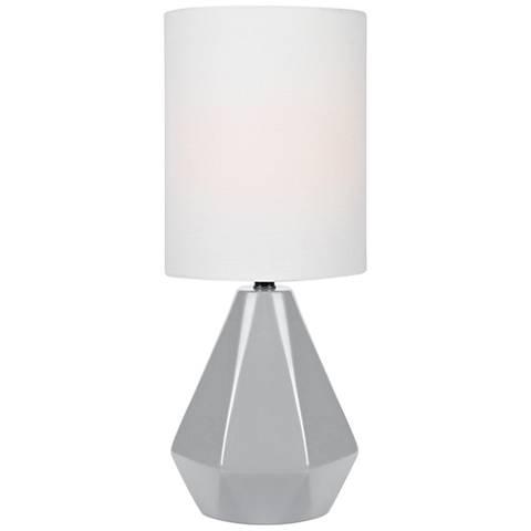 "Lite Source Mason 17"" High Gray Ceramic Accent Table Lamp"