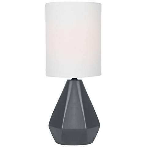 "Lite Source Mason 17""H Jet Black Ceramic Accent Table Lamp"