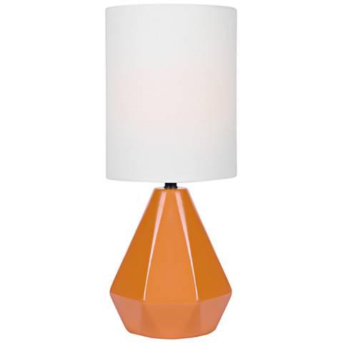 "Lite Source Mason 17"" High Orange Ceramic Accent Table Lamp"