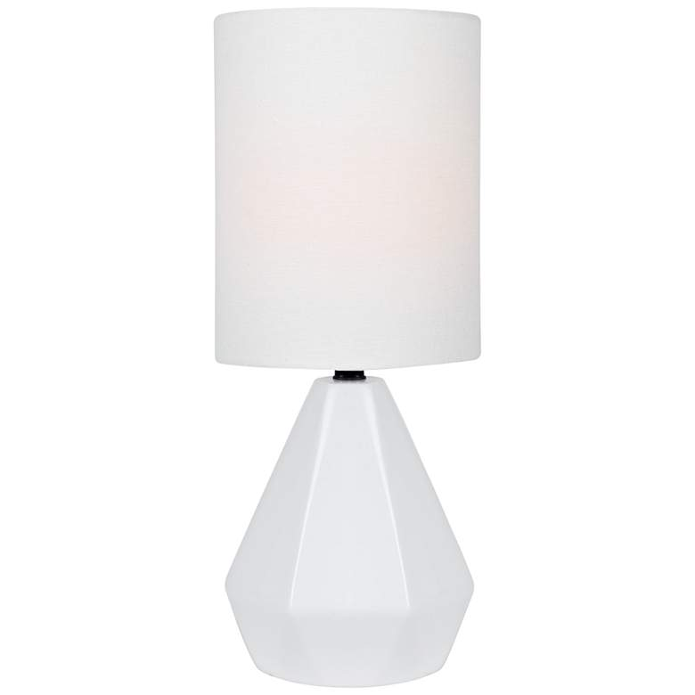 "Lite Source Mason 17"" High White Ceramic Accent Table Lamp"