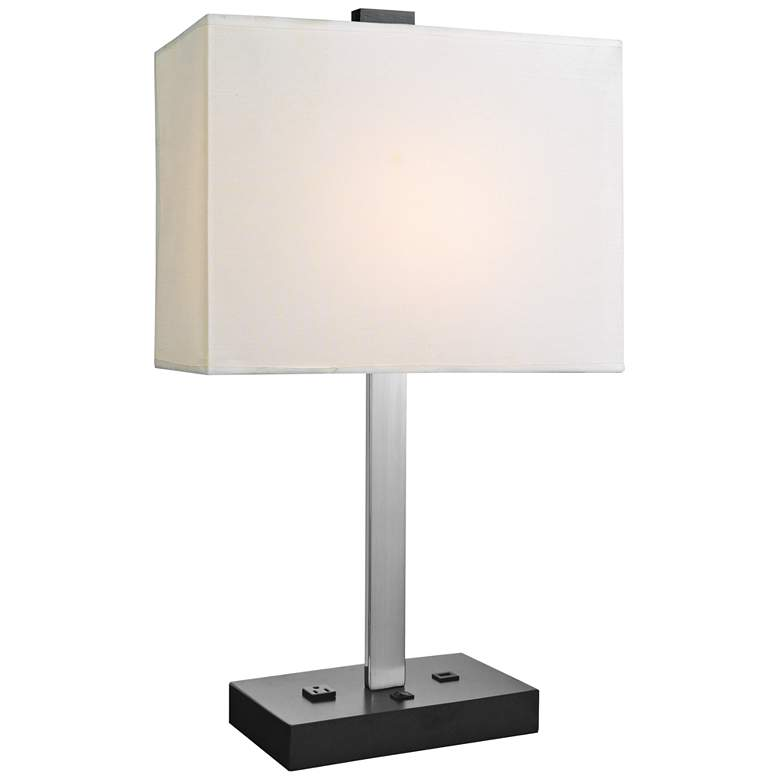 Lite Source Maddox II Chrome Metal Table Lamp