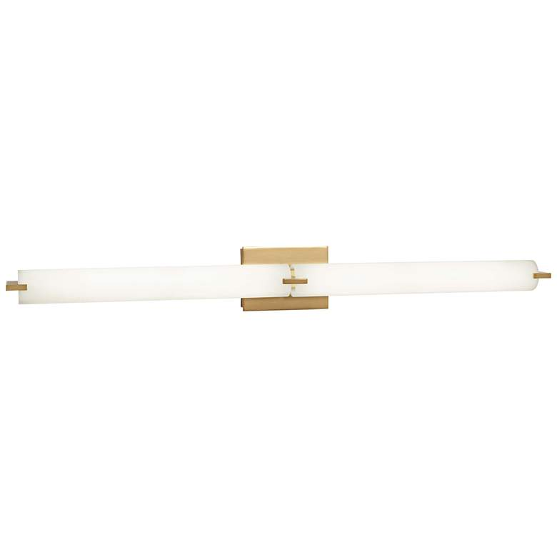 "George Kovacs Tube 39 1/2"" Wide Gold 2-Light LED Bath Light"