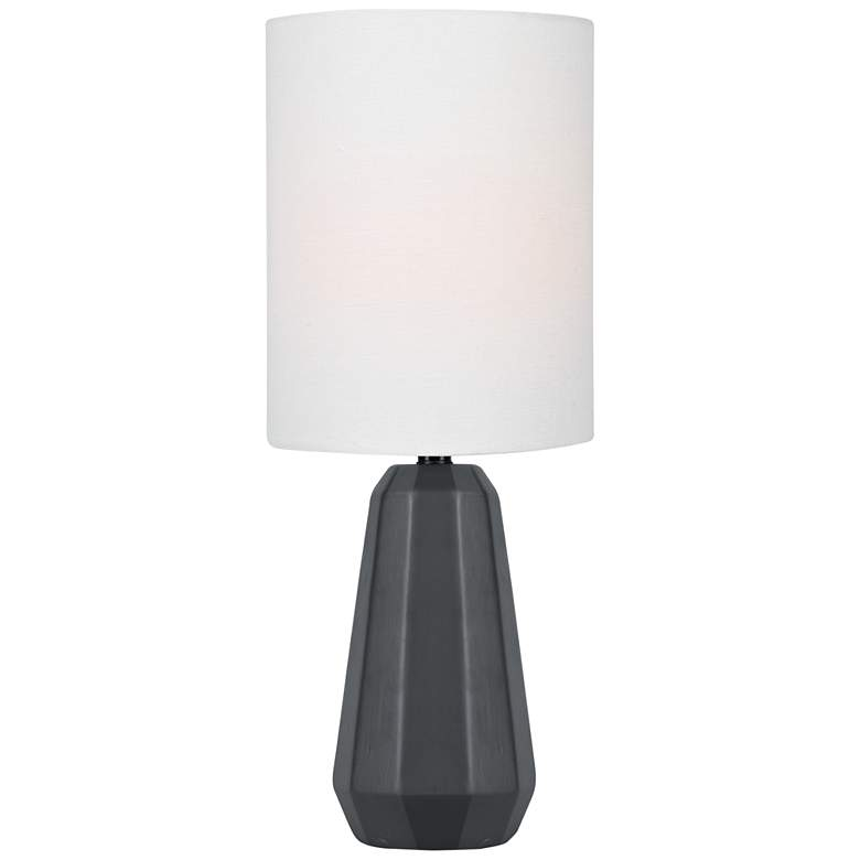"""Lite Source Charna 17 1/2""""H Black Ceramic Accent Table Lamp"""