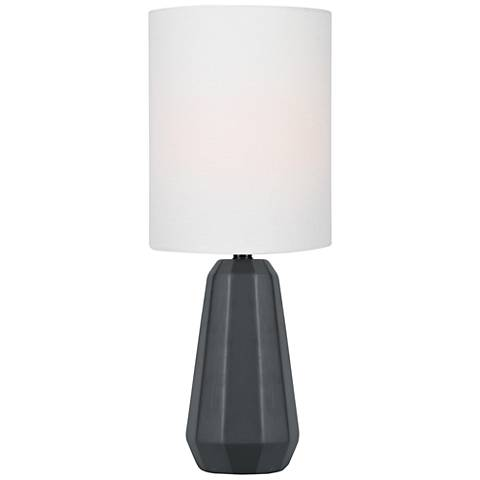 "Lite Source Charna 17 1/2""H Black Ceramic Accent Table Lamp"