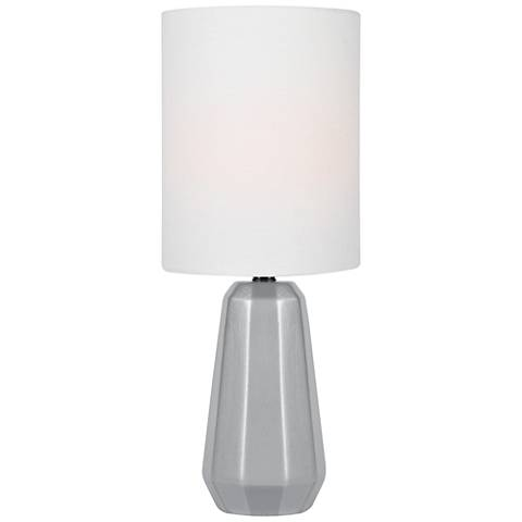 "Lite Source Charna 17 1/2""H Silver Ceramic Accent Table Lamp"