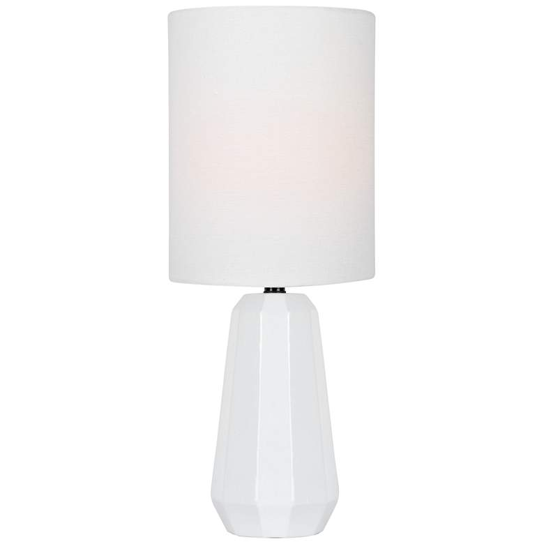 """Lite Source Charna 17 1/2""""H White Ceramic Accent Table Lamp"""