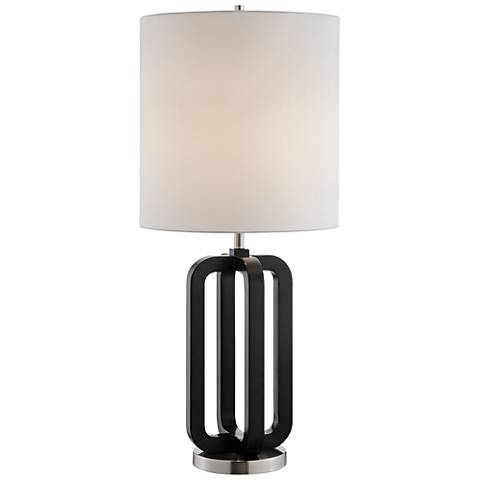 Lite Source Shirley Black Wood Table Lamp