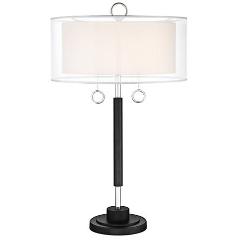 Lite Source Umbra Black Metal Table Lamp