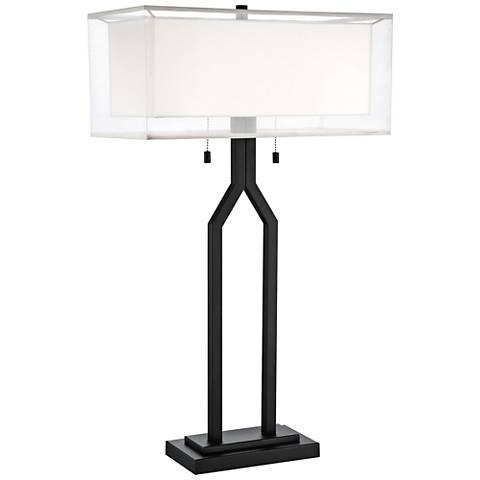 Lite Source Nalani Black Metal Table Lamp